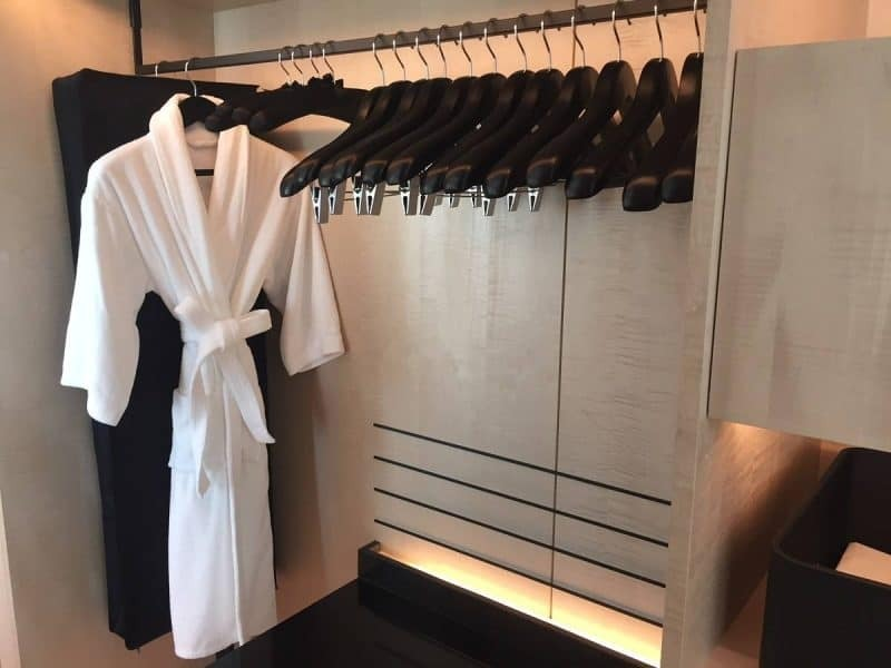 Walk in wardrobe at Park Hyatt Bangkok