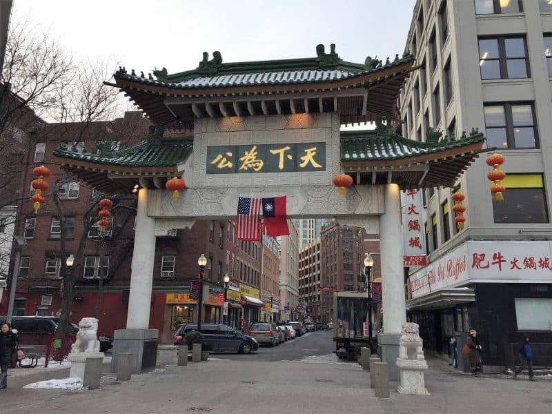 Chinatown in Boston
