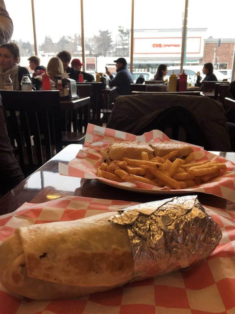 Lunch at Eagles Deli in Boston