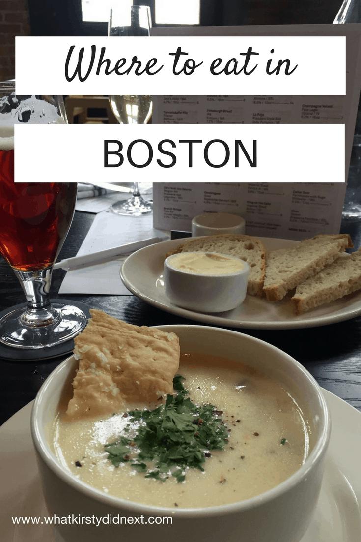 Where to eat in Boston, Massachusetts - a restaurant guide