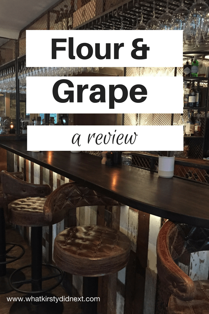 A review of Italian restaurant Flour & Grape in London's Bermondsey