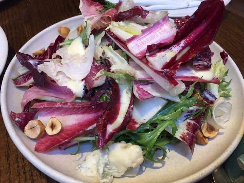 Bitter leaves salad from Luca Restaurant
