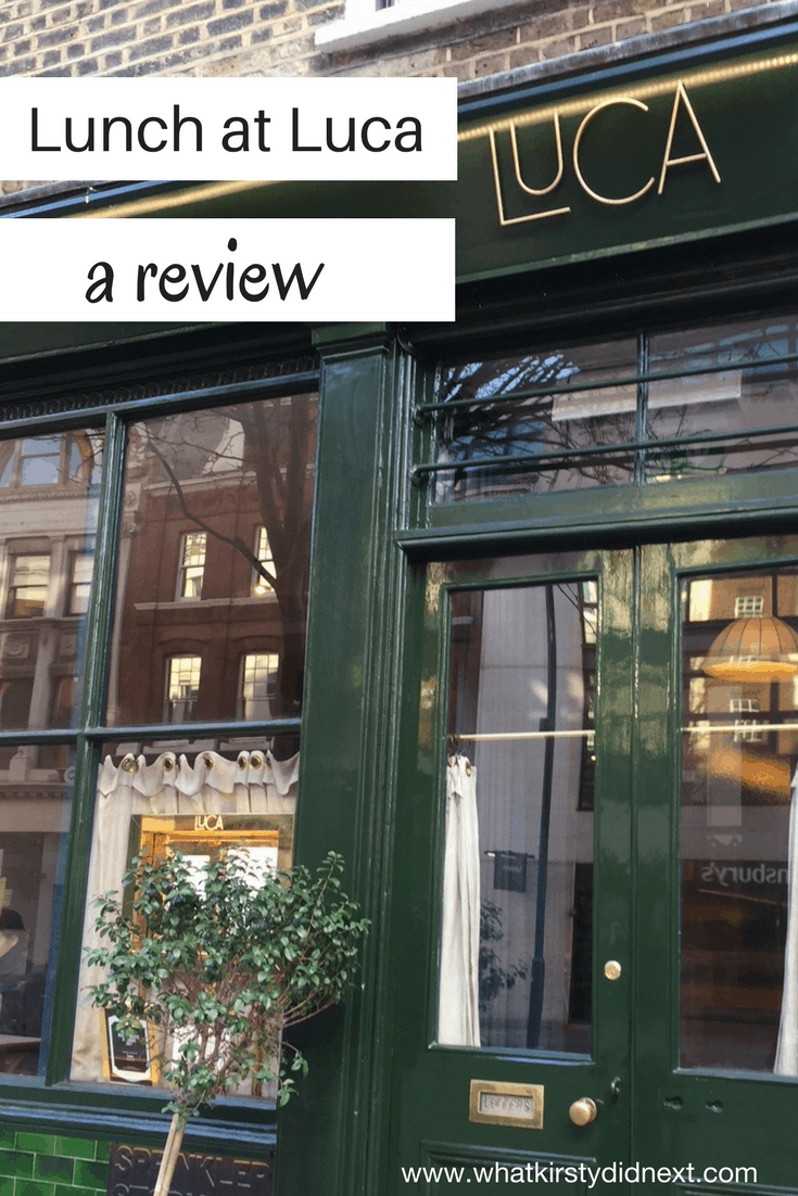 Lunch at Luca - a review