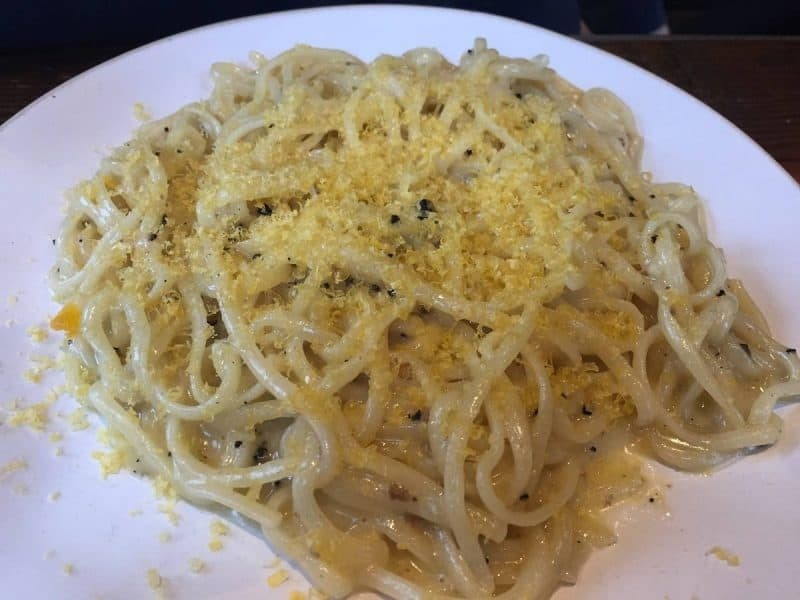 Tagliolini with preserved truffle from Flour and Grape in Bermondsey