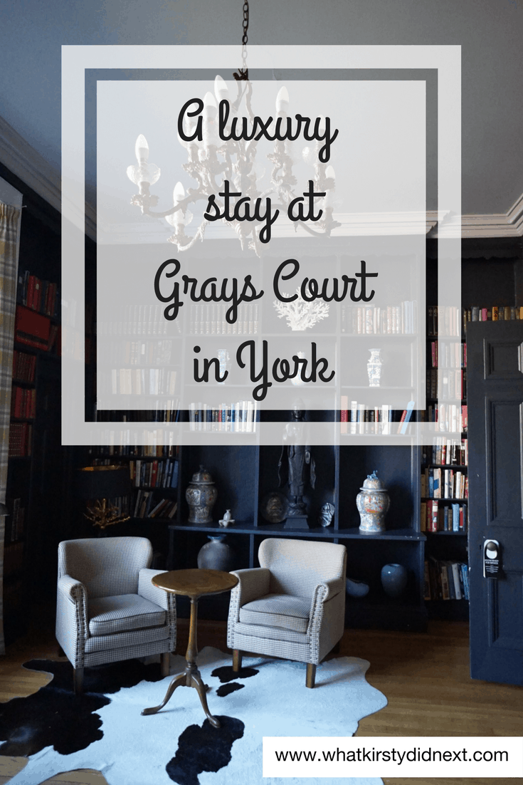 A luxury stay at Grays Court in York