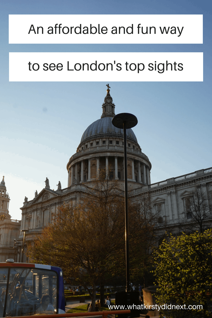 An affordable way to see London's top sights