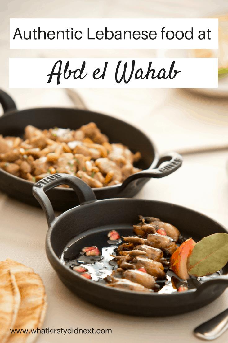 Authentic Lebanese food at Abd el Wahab