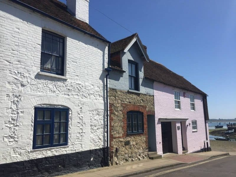 Colourful cottages in Emsworth