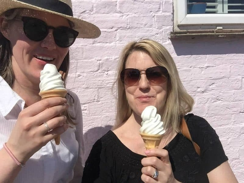 Eating ice-cream in Emsworth