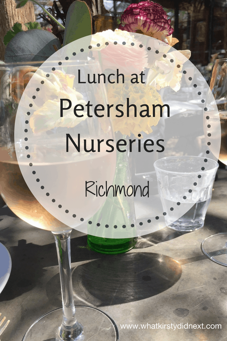 Lunch at Petersham Nurseries in Richmond