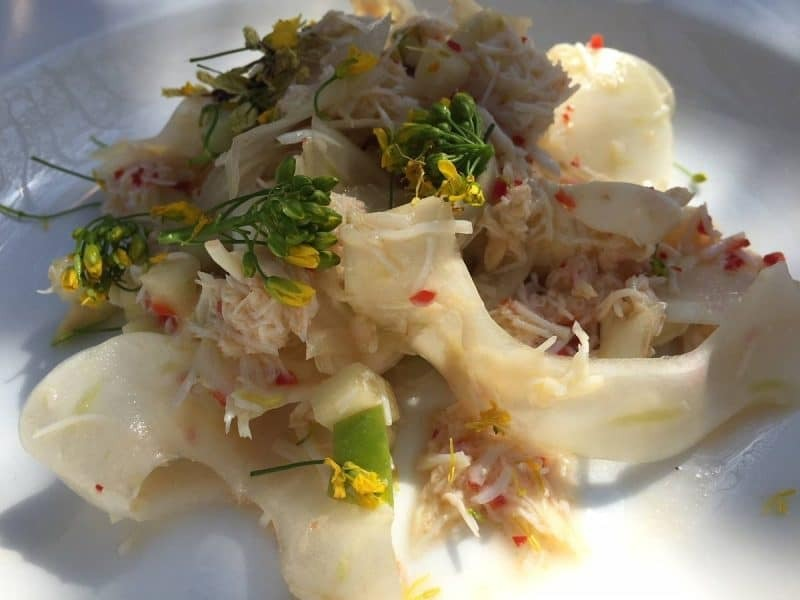 Portland crab salad at Petersham Nurseries
