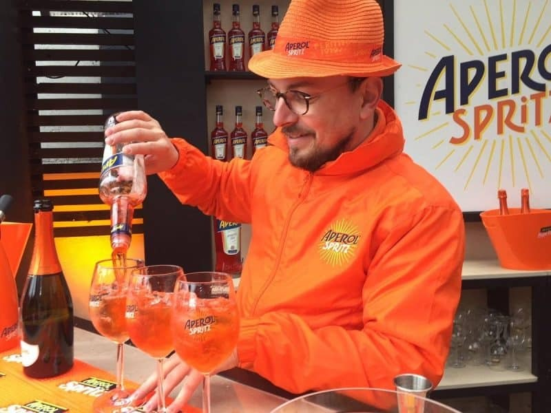 The Aperol Bar at Prosecco Springs