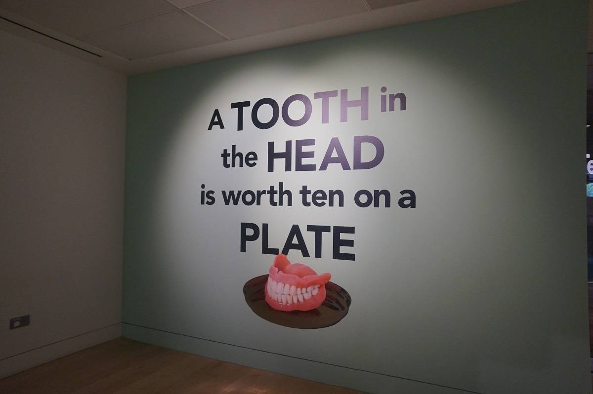 Wellcome Trust Teeth exhibition