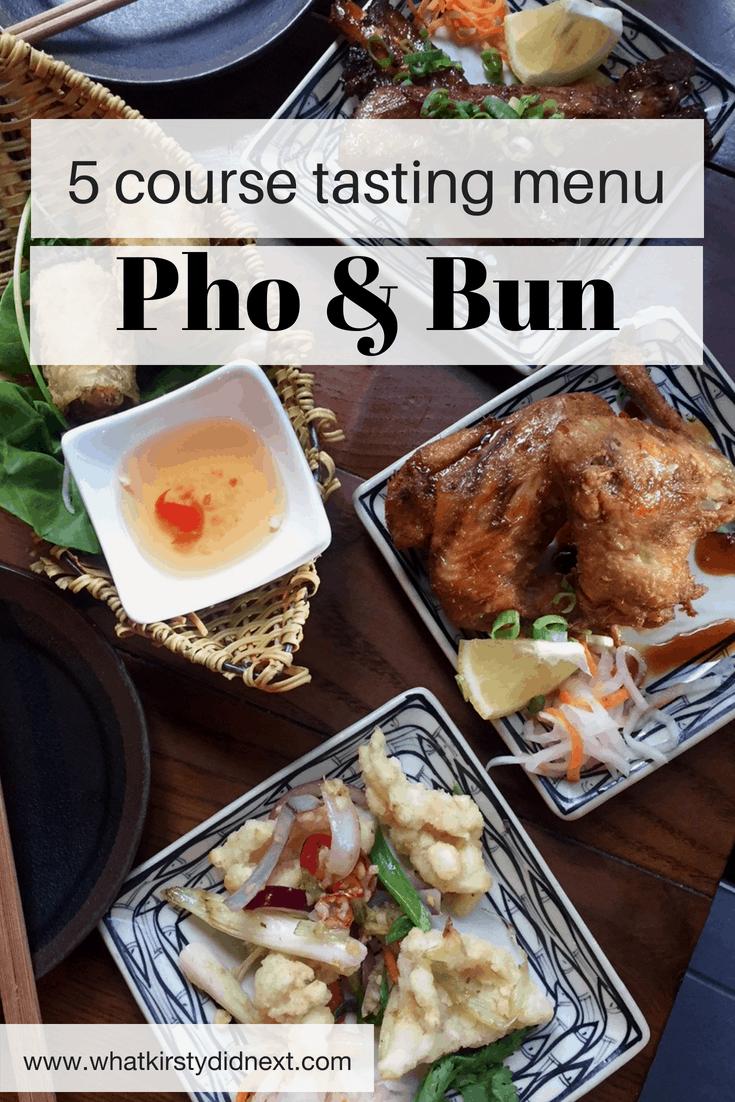 Tasting menu at Pho & Bun, London