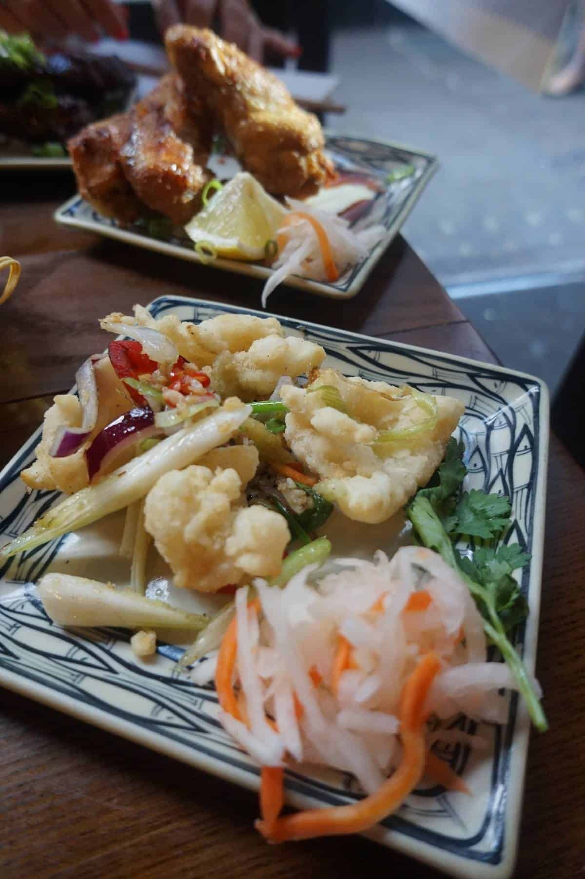 Chili salt and pepper squid from Pho and Bun