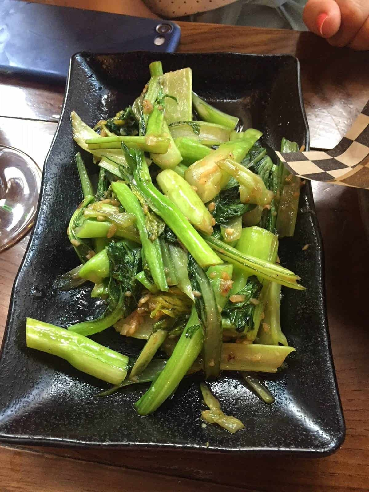 Chinese Choi Sum from Pho and Bun