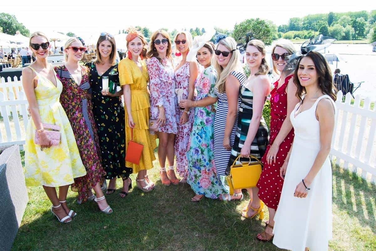 Getting my frock on at Henley Royal Regatta