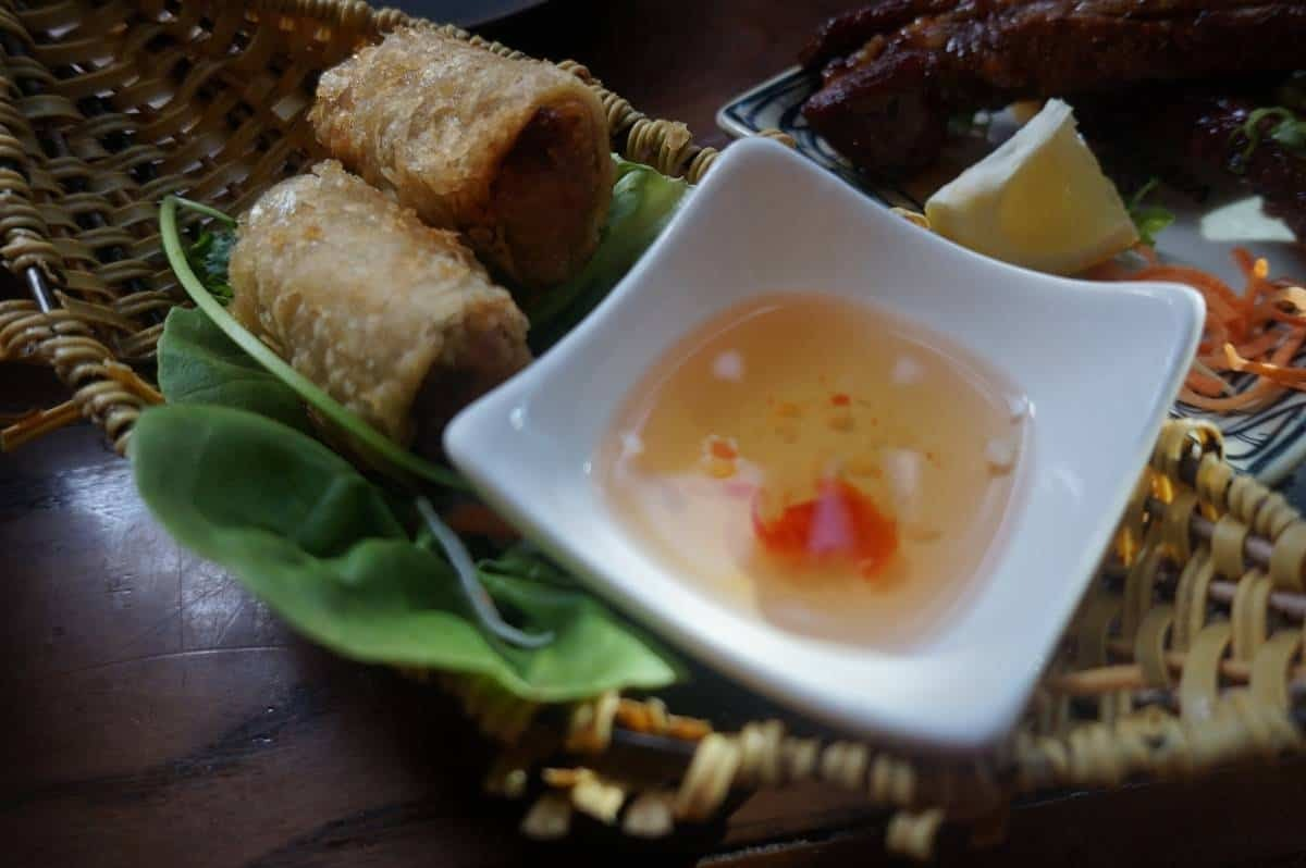Pork and crab spring roll from Pho and Bun