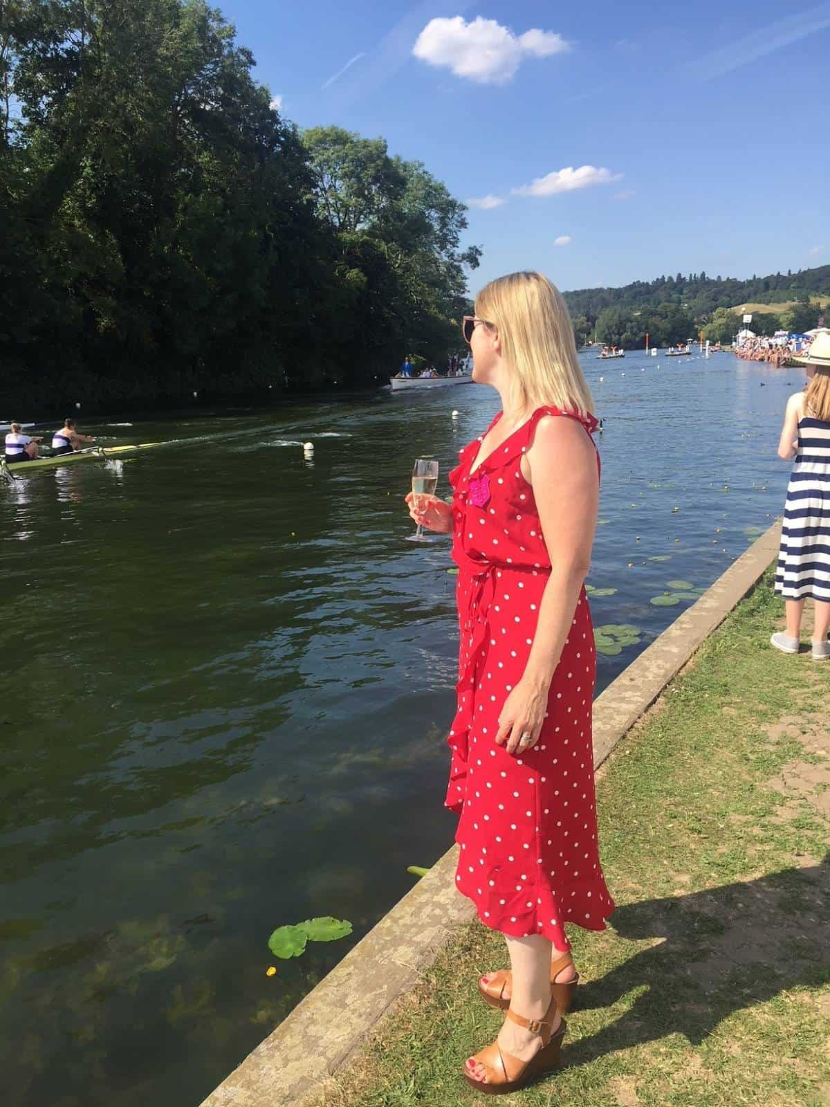 Red Polka dot Oasis dress from Debenhams