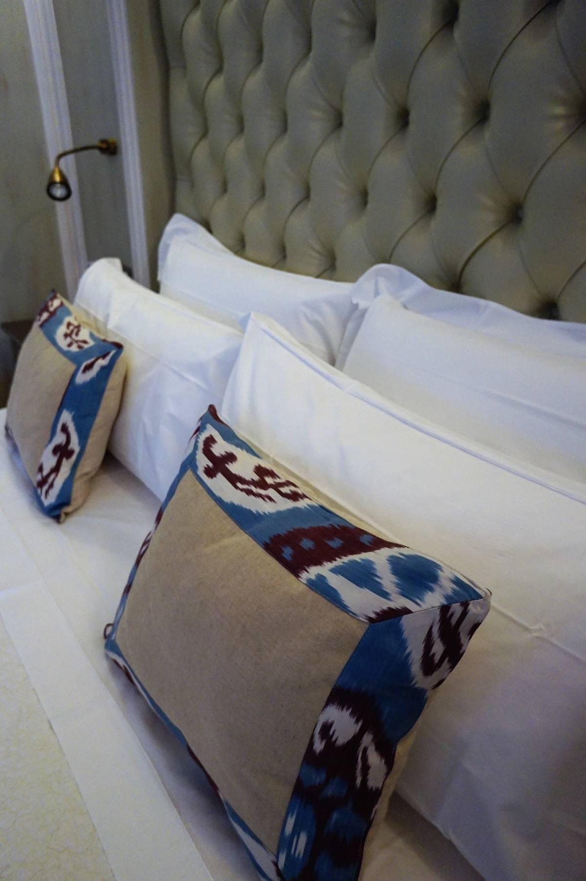 Bed design detail at Casa Buonocore Positano