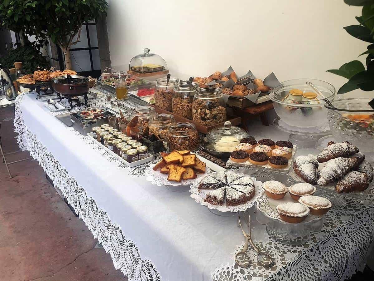 Breakfast spread at Casa Buonocore