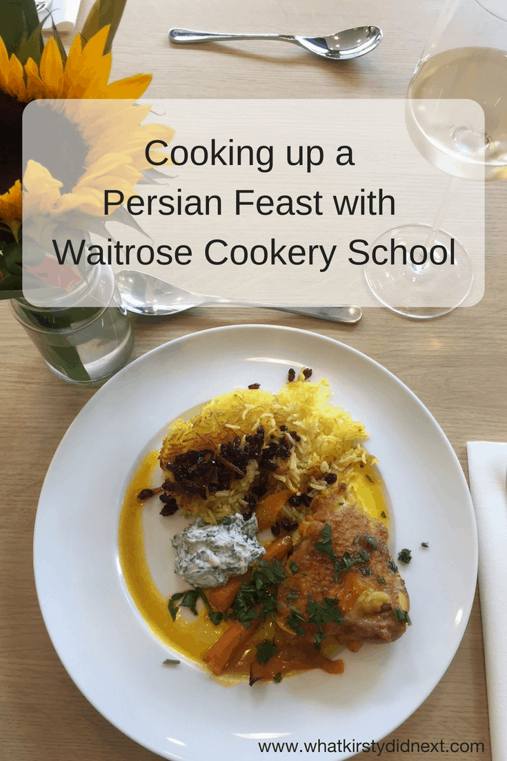 Persian Feast class with Waitrose Cookery School