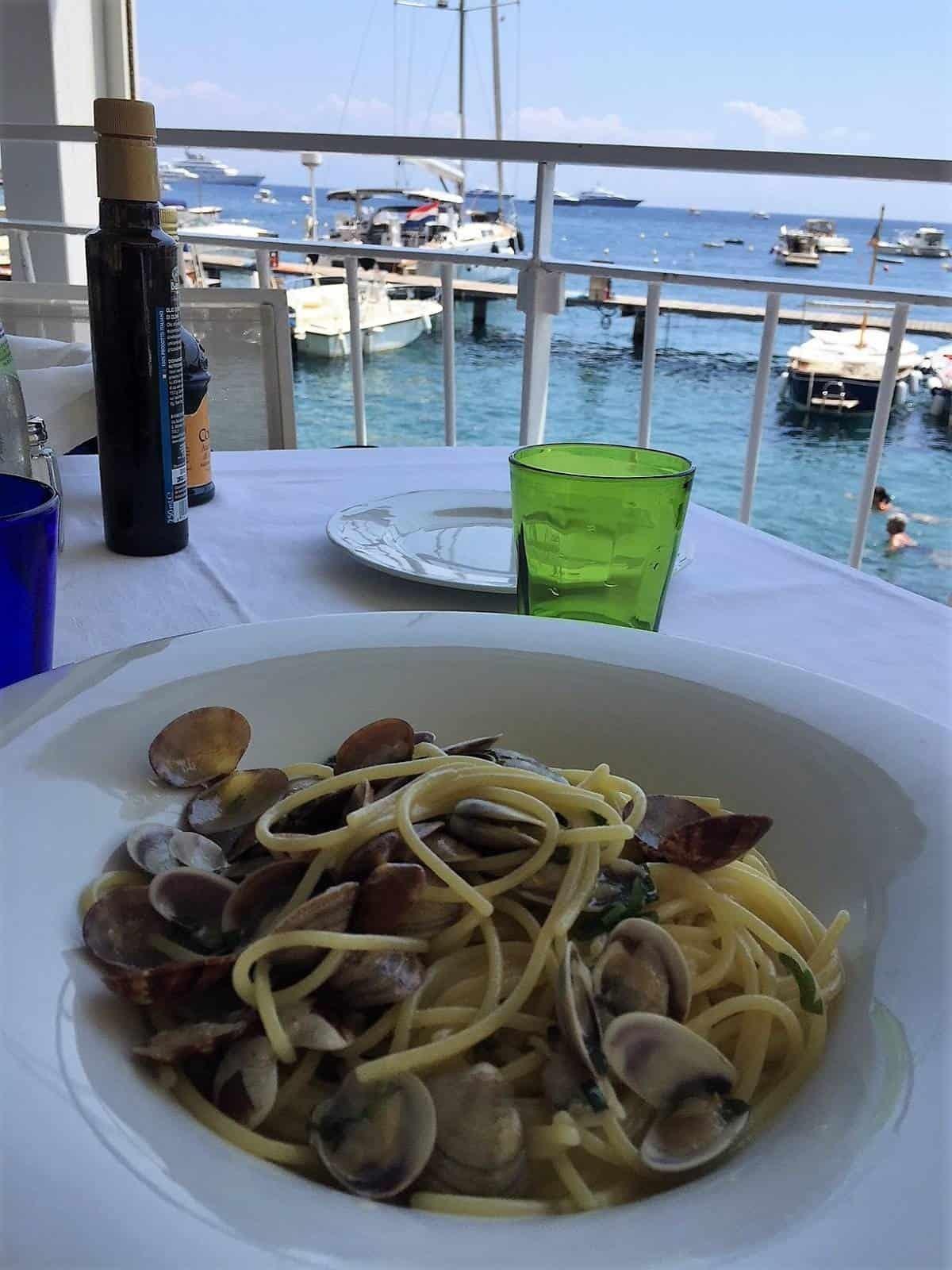 Lunch at Lido Azzurro in Amalfi