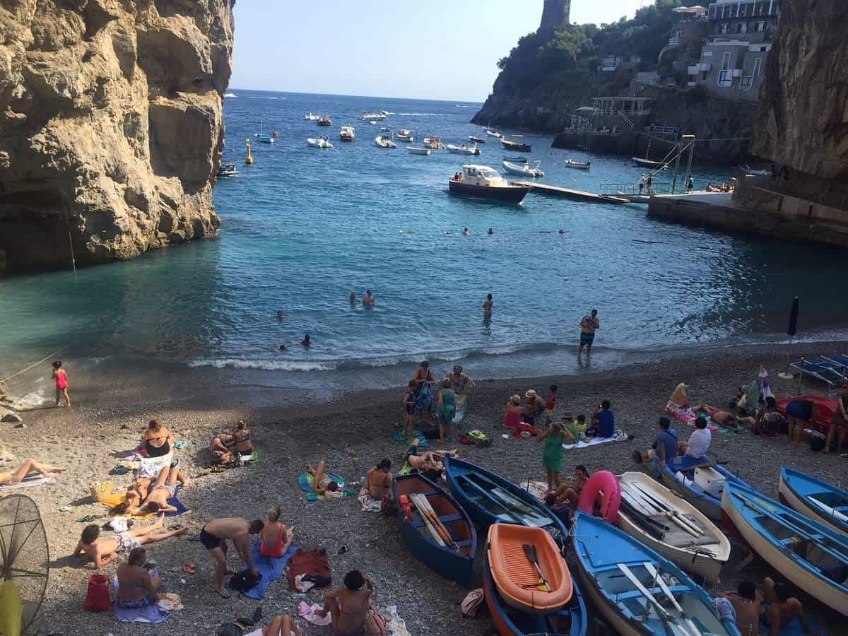 Local beach on the Amalfi Coast