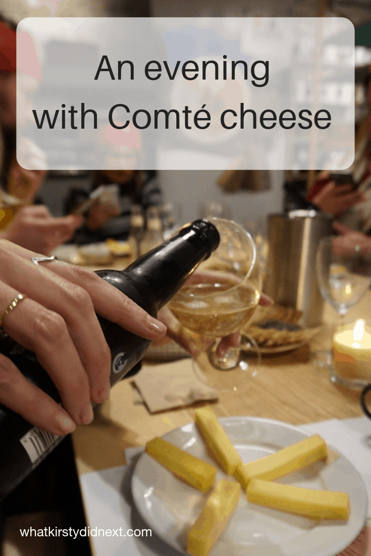 An evening with Comte cheese