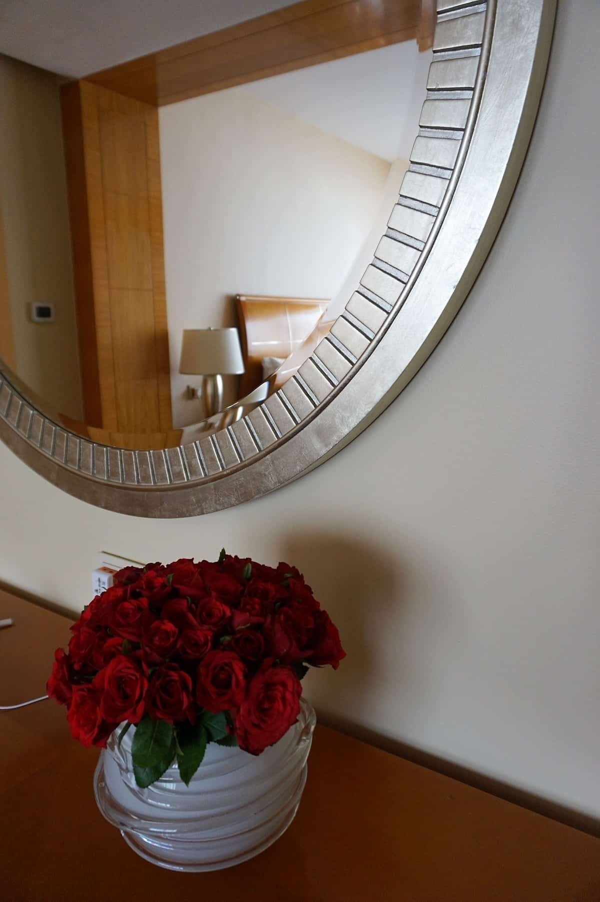 Fresh roses in our bedroom