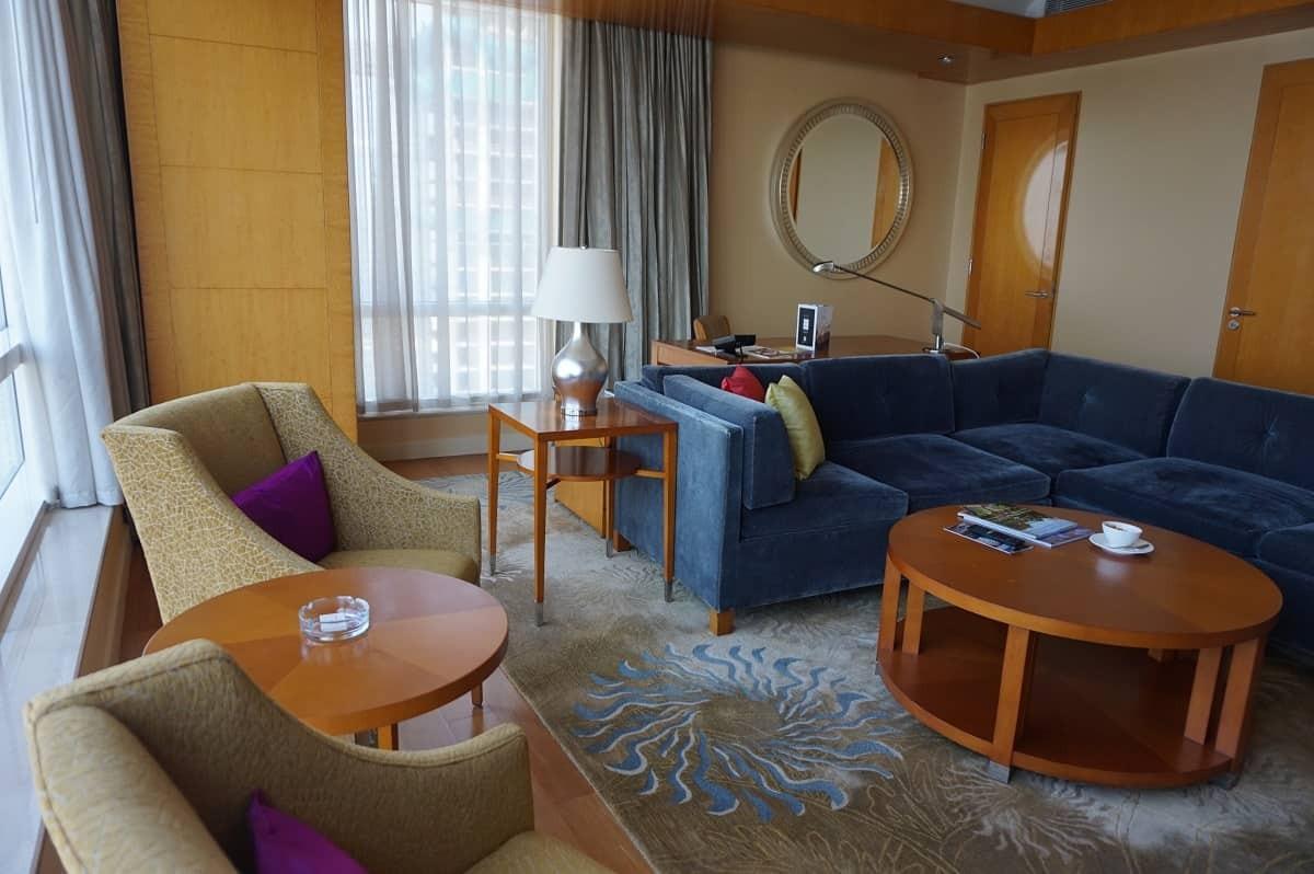 Living room in Four Seasons Mumbai suite