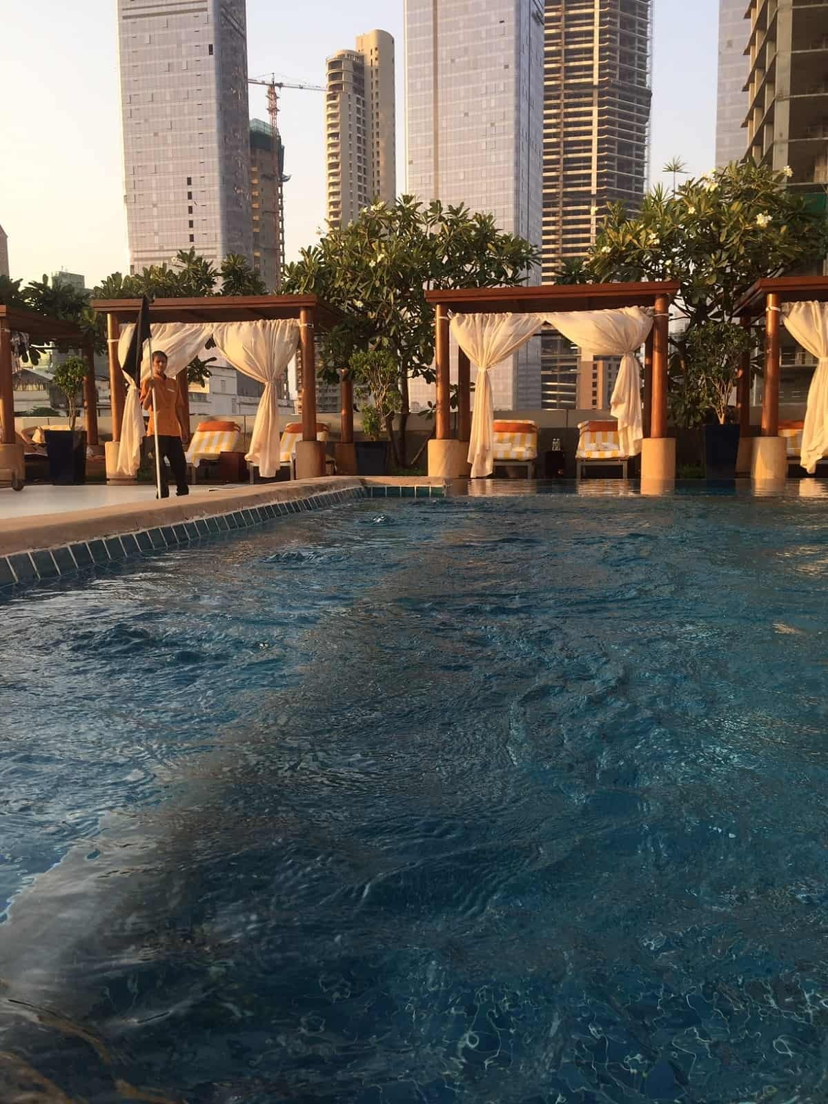 Outdoor pool at Four Seasons Mumbai