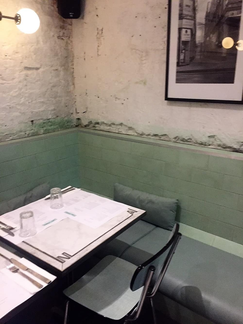 Downstairs tables at Lina Stores Restaurant