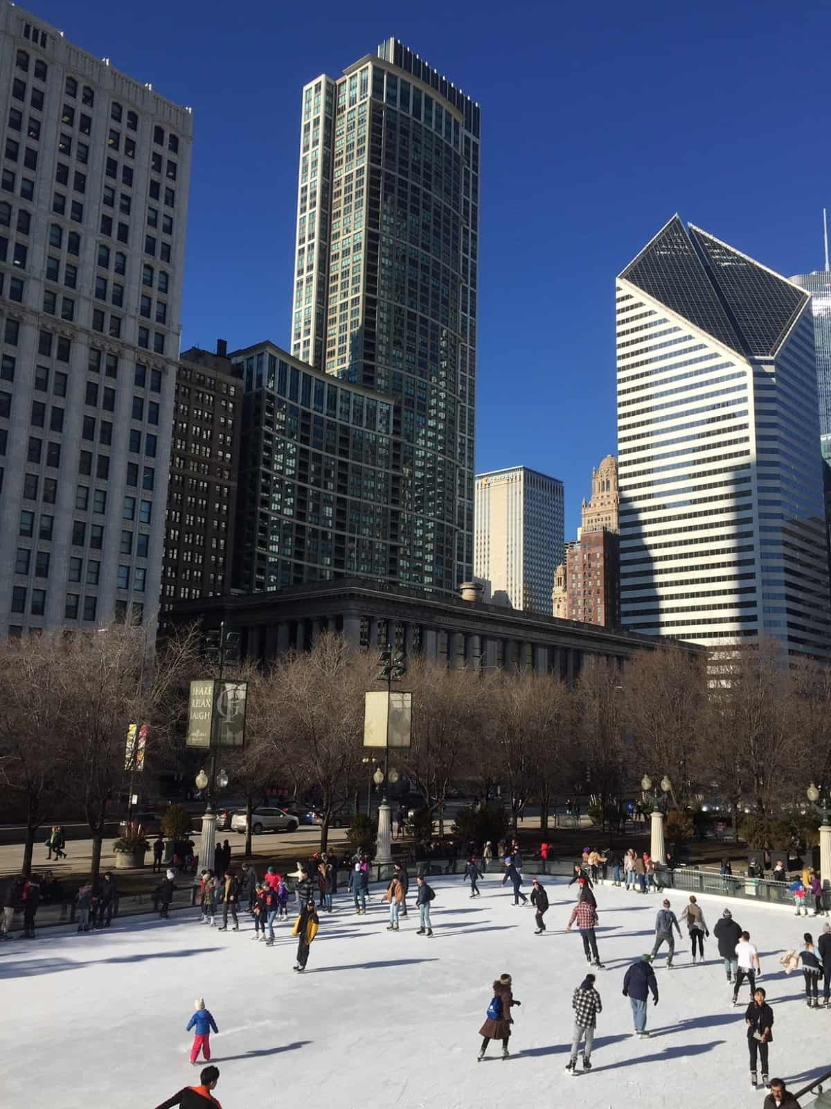 Ice-skating in Chicago