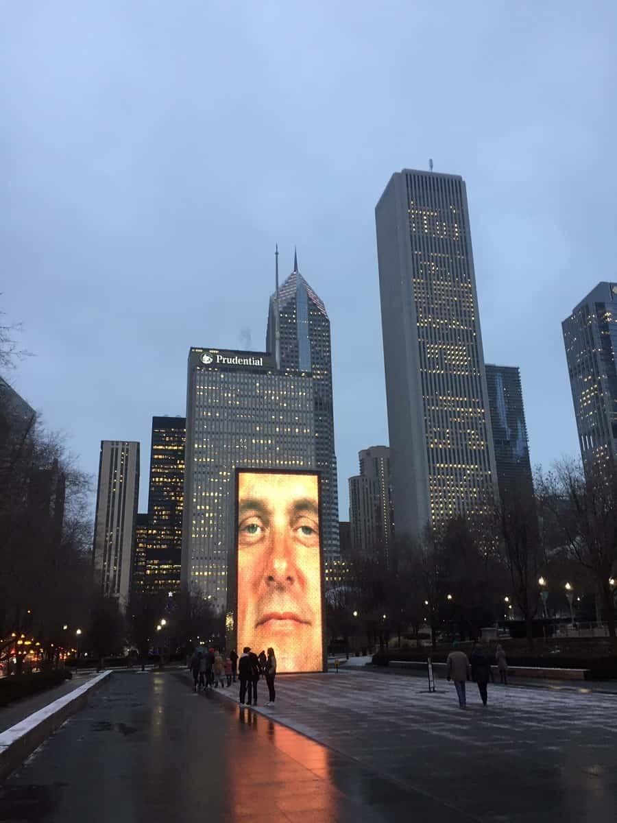 Crown Fountain Art Chicago