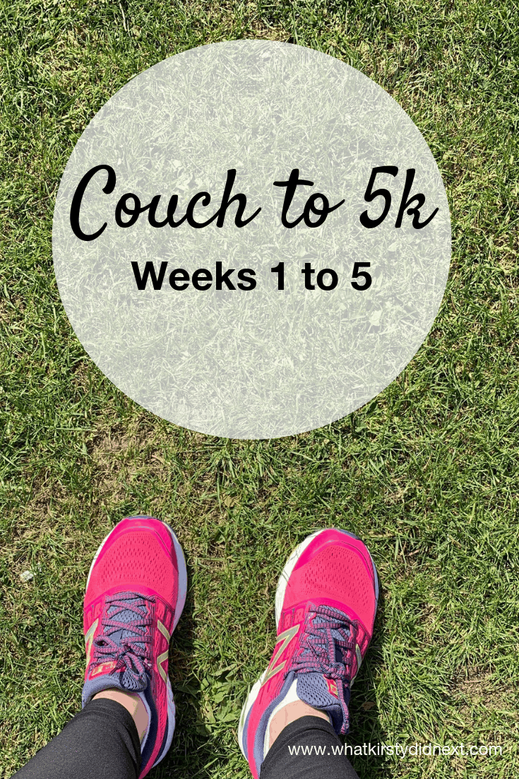 Couch to 5k - a review of weeks 1 to 5