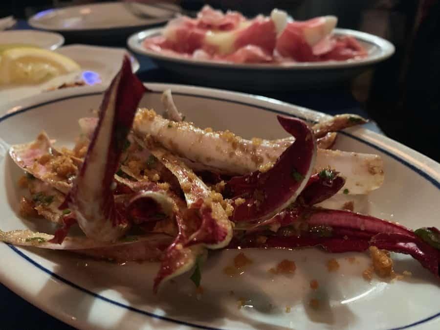 Radicchio salad from Osteria 16