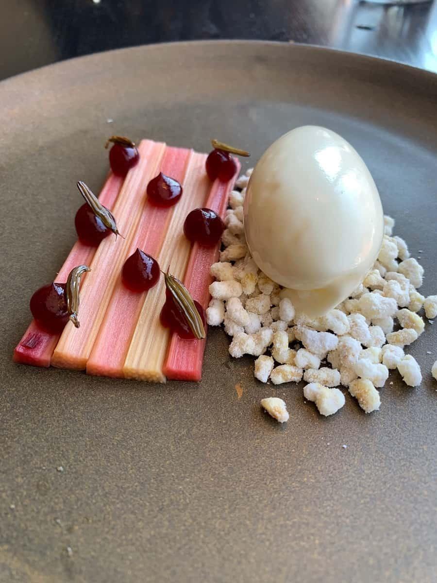 Rhubarb dessert at Radio in Copenhagen
