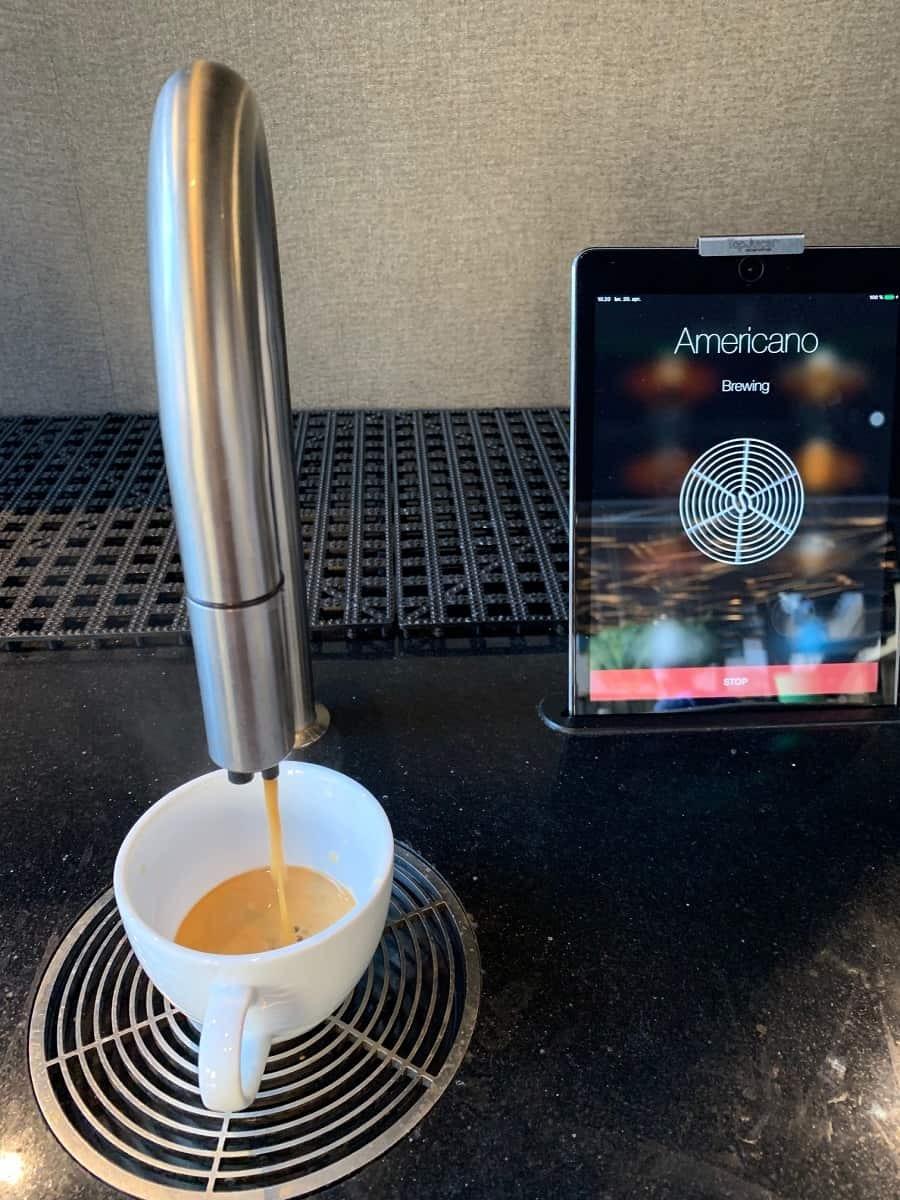Coffee from an iPad