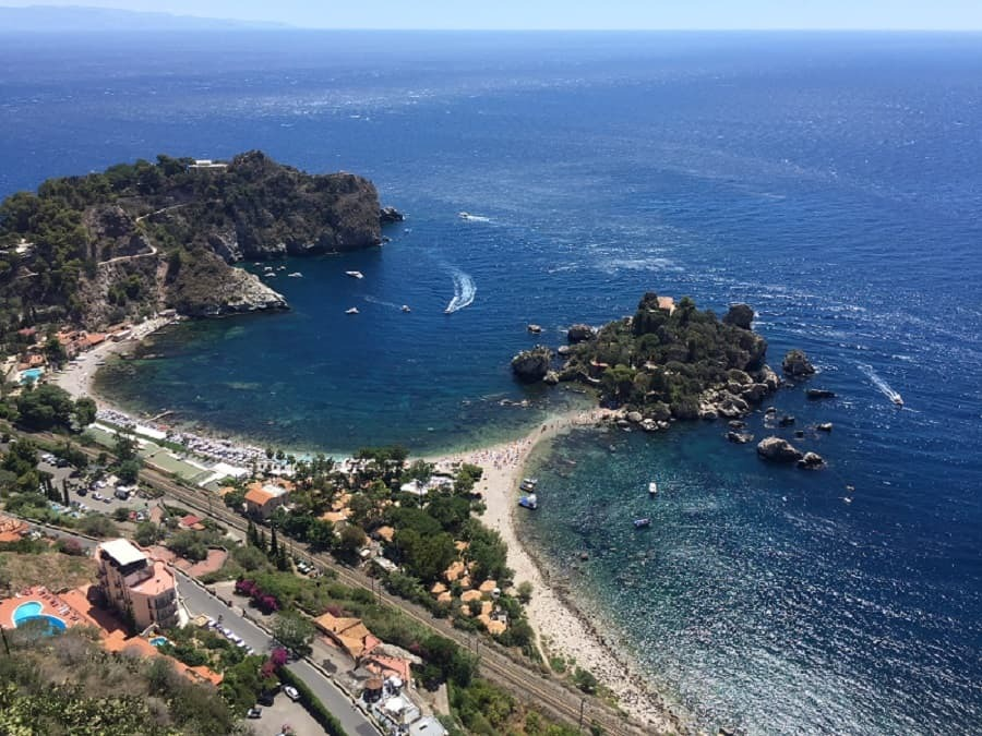 Isola Bella from above