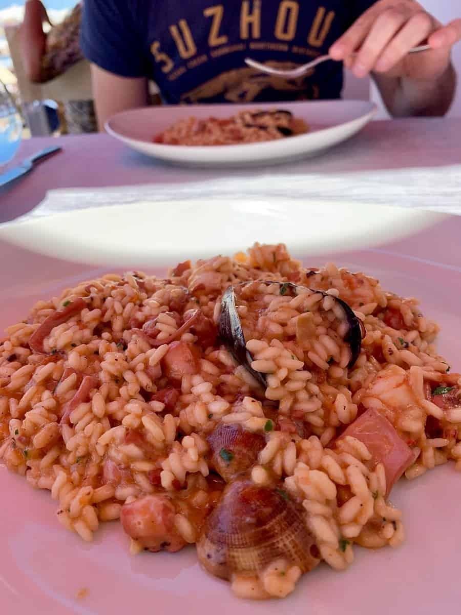 Risotto from Vivara restaurant