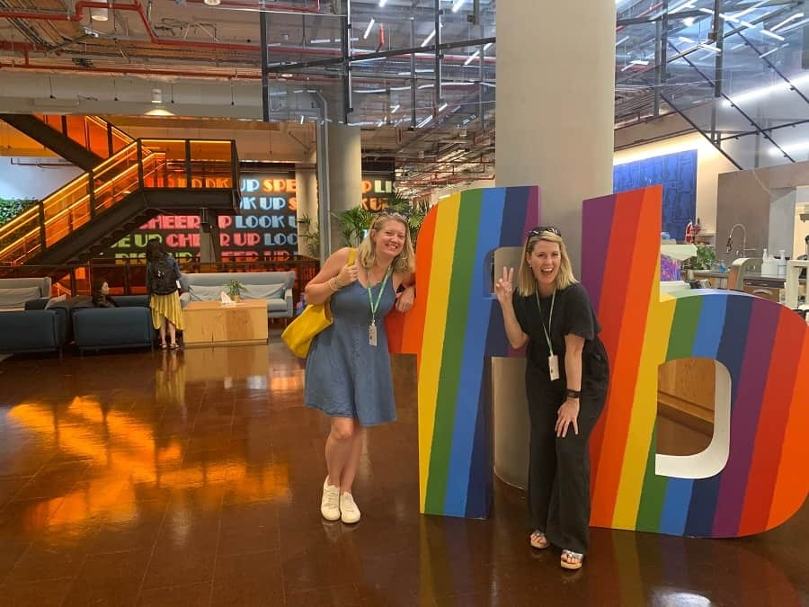 Jen and I at Facebook HQ