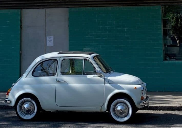 Vintage Fiat 500 in Notting Hill