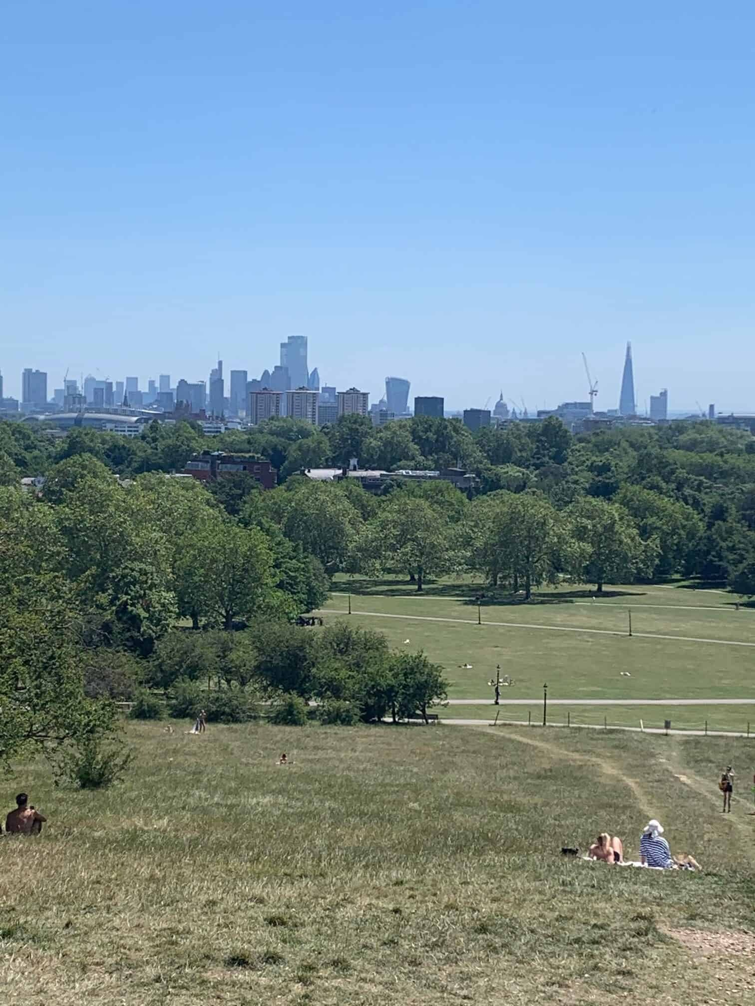 View of the city from Primrose Hill