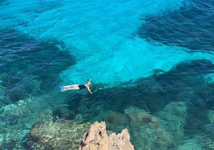 Swimming in Cala Rossa