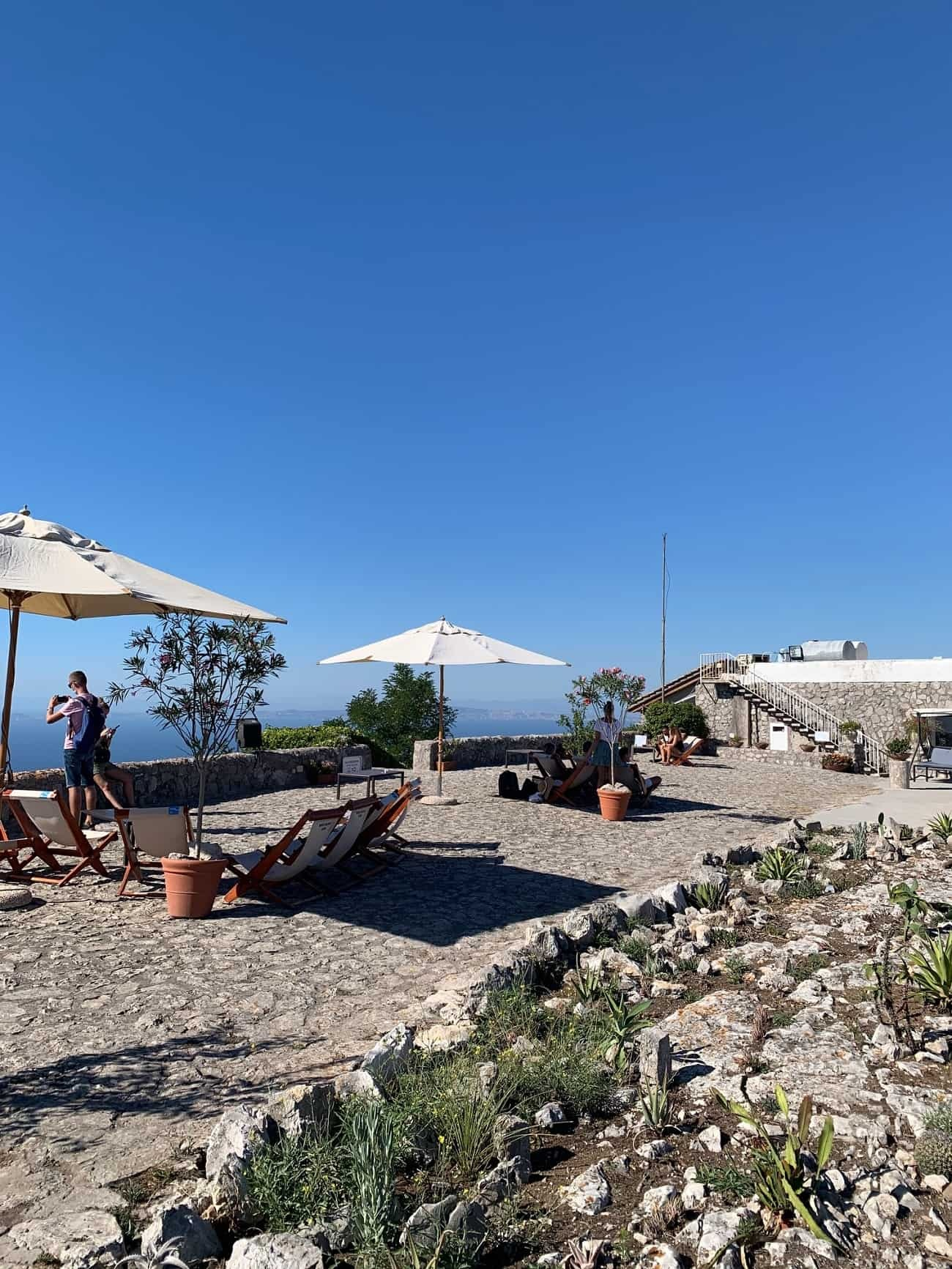 Terrace at the top of Monte Solaro