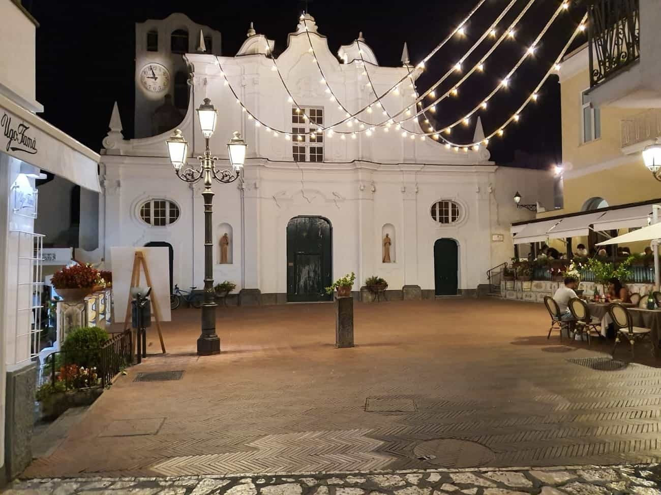 San Michele church at night