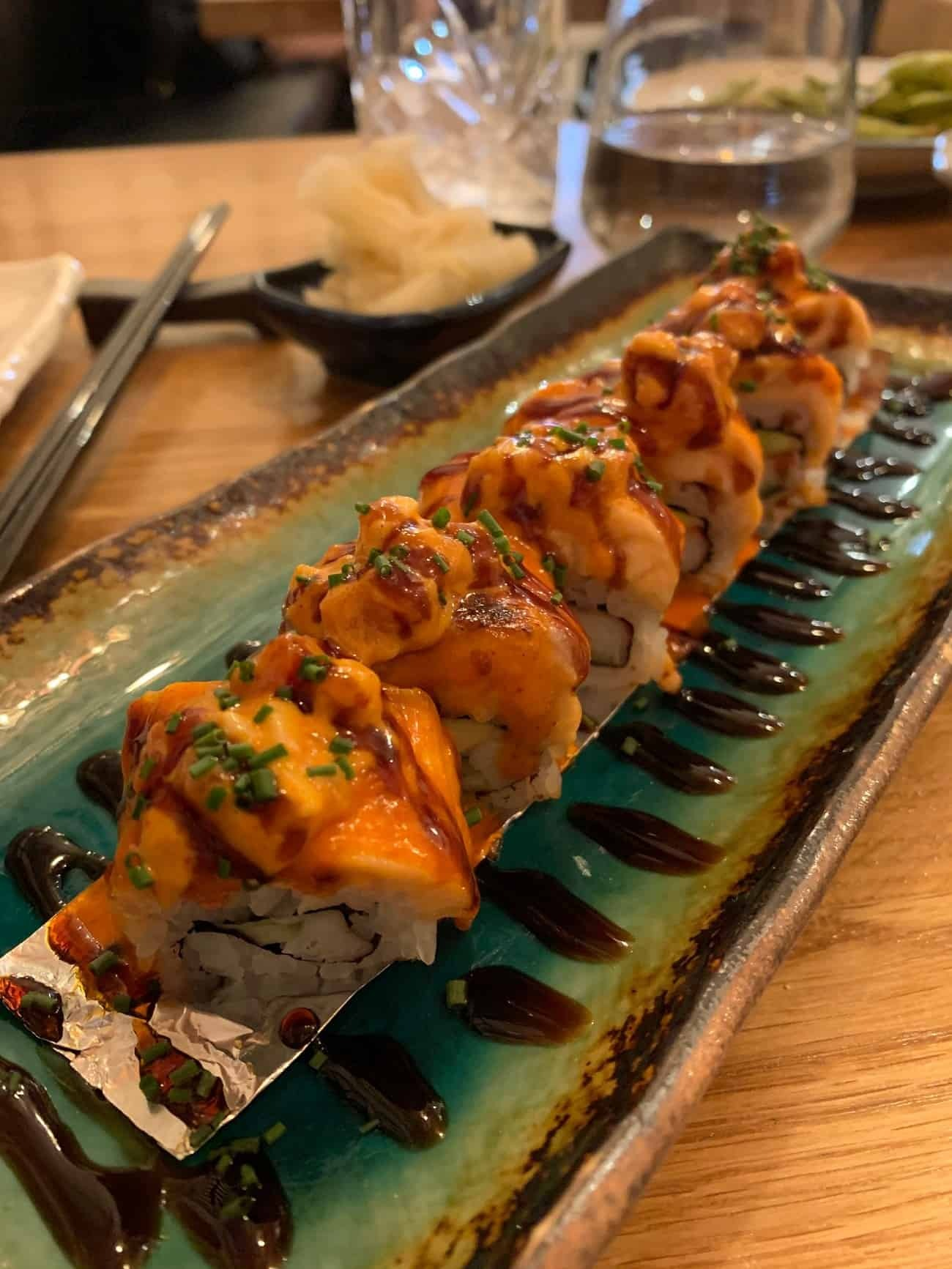 Sushi from Hot Stone London
