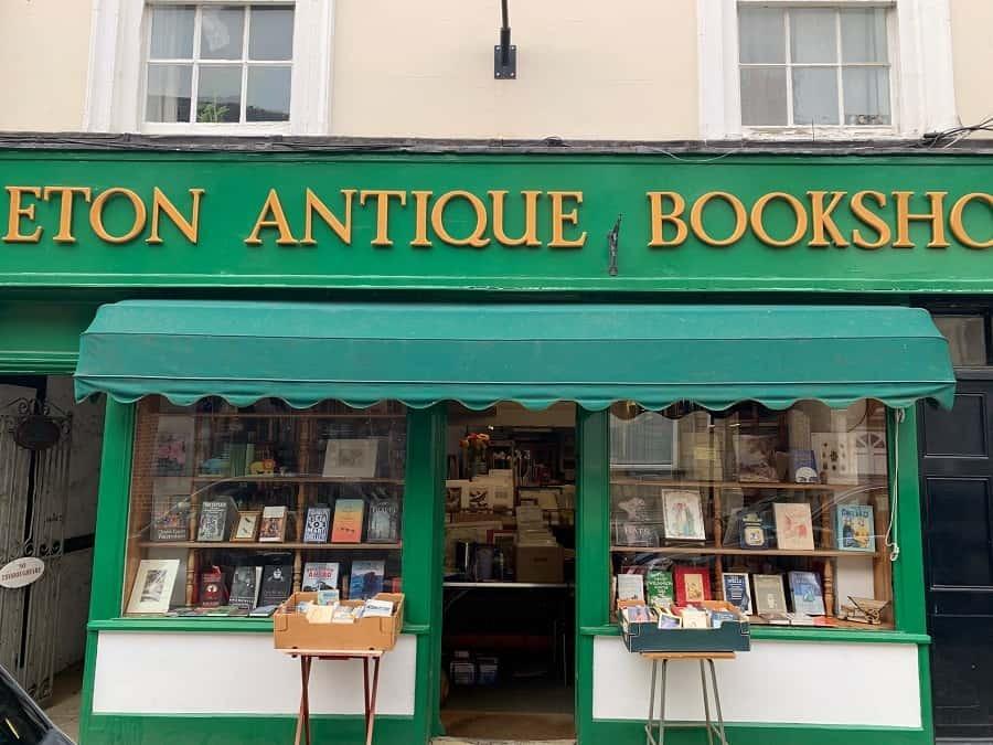 Eton antique bookshop store front