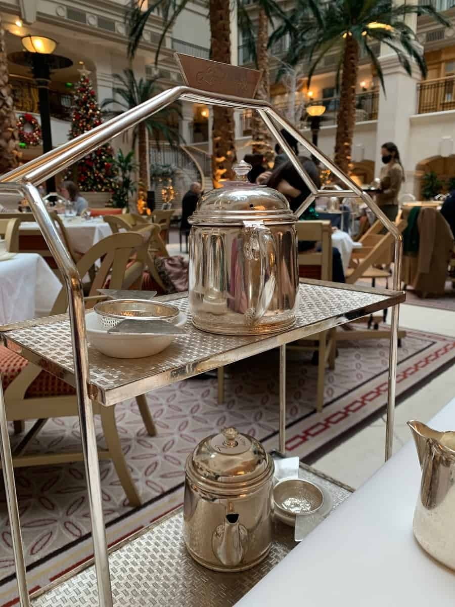The tea trolley at The Landmark